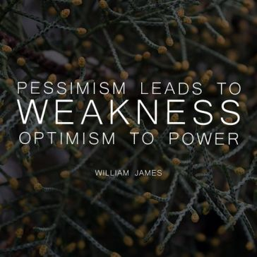 Pessimism lets to William James
