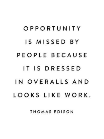 Thomas edison opportunity is missed